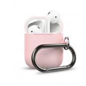 ELAGO Skyddsväska för Airpod med Hängare - Rosa