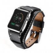 Brett Läderarmband Apple Watch 42/44 mm svart
