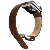 Hoco Bamboo Leather Band (Apple Watch 42 mm) - Brun