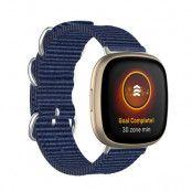 Natoarmband Fitbit Versa 3/Sense marinblå