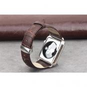 Qialino Watchband i äkta läder till Apple Watch 38mm - Brun