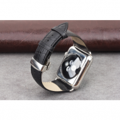 Qialino Watchband i äkta läder till Apple Watch 38mm - Svart