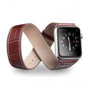 Qialino Watchband i äkta läder till Apple Watch 42mm - Brun
