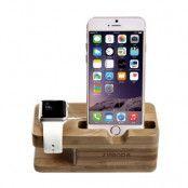 SEENDA stativ och laddningsstation i björk till Apple Watch, och iPhone