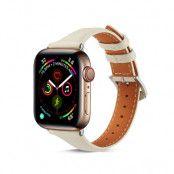 Slim Läderarmband Apple Watch 38/40 mm vit