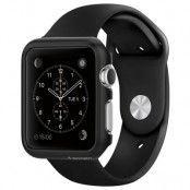 Spigen Thin Fit Skal till Apple Watch 42mm - Smooth Black