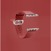 Watchband i äkta läder till Apple Watch 42mm - Röd