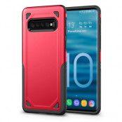 Rugged Armor Skal till Samsung Galaxy S10 Plus - Röd