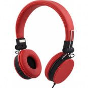 STREETZ headset med iPhone-koppling, svarsknapp, mikrofon - Röd