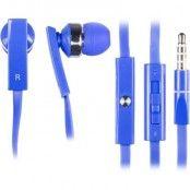 STREETZ in-ear headset för iPhone, volymkontroll, svarsknapp, blå
