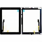 iPad 3 Komplett Glas & Digitizer med smådelar - Svart