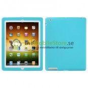 Silikonskal till Apple New iPad 3 (Ljus Blå)