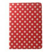 Rotating Fodral till Apple iPad Air 2 - Polka Dots (Röd)