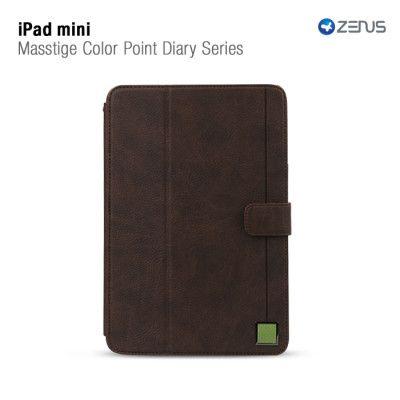 Zenus Masstige Color Point Folio till Apple iPAD mini (Black Choco)