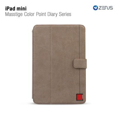 Zenus Masstige Color Point Folio till Apple iPAD mini (Grå)