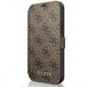 Guess Charms Book Case (iPhone 12/12 Pro) - Brun