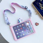 Trolsk Kids Case with strap - Cute Pink Unicorn
