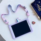 Ingen förpackning: Trolsk Kids Case with strap - Cute Purple Unicorn