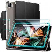 ESR - Ascend Trifold & Härdat Glas iPad Pro 12.9 2021 - Svart
