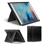 Qialino Äkta Läder Dual Kick-Stand Fodral till Apple iPad Pro - Svart