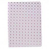 Diagonal Grid Pattern Fodral till iPad Pro 9.7 - Vit