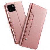 Plånboksfodral med Spegel till iPhone 11 Pro Max - Rose Gold