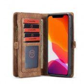 CASEME 2-in-1 Plånboksfodral för iPhone 11 - Brun