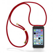 CoveredGear Necklace Case iPhone 11 - Maroon Cord