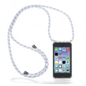 CoveredGear Necklace Case iPhone 11 - White Stripes Cord