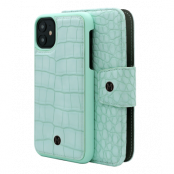 Marvêlle iPhone 11 plånboksfodral - Mint Croco