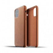 Mujjo Full Leather Case för iPhone 11 - Tan
