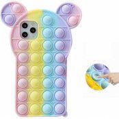 Panda Pop it Fidget Multicolor Skal till iPhone 11