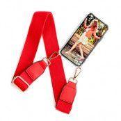 BOOM OF SWEDEN Halsbandsskal till iPhone 12 Mini - Belt Red