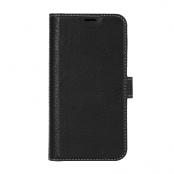 Essentials | Leather Avtagbart Plånboksfodral iPhone 12 mini - Svart
