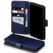 Terrapin   Äkta Läder Plånboksfodral iPhone 12 Mini - Blå