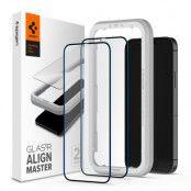 SPIGEN ALM FC 2-Pack Härdat Glas iPhone 12 Pro Max - Svart