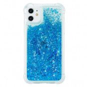 Glitter Powder TPU Case iPhone 12/12 Pro blå