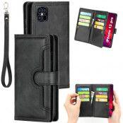 Läderplånbok Multi-slot iPhone 12/12 Pro svart