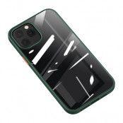 Usams iPhone 12/12 Pro Bekvämt Mobilskal- Grön / Transparent