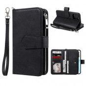 Zipper Magnet Wallet iPhone 12/12 Pro svart