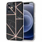 Boom of Sweden Grid Skal iPhone 12 & 12 Pro - Svart Marmor