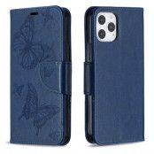 Imprint Butterfly Plånboksfodral iPhone 12 - Blå