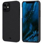 Pitaka MagEZ Plain Case (iPhone 12) - Röd/grå