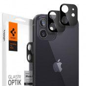 SPIGEN Härdat Glas Optik.Tr Kamera Lens iPhone 12 Svart