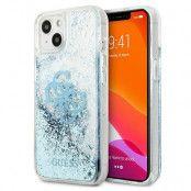 Guess iPhone 13 Mini Skal Big Logo Liquid Glitter - Blå