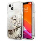 Guess iPhone 13 Mini Skal Big Logo Liquid Glitter - Guld