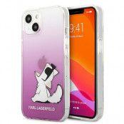 Karl Lagerfeld iPhone 13 Mini Skal Choupette Fun - Rosa