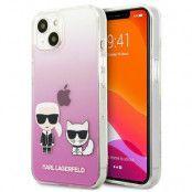 Karl Lagerfeld iPhone 13 Mini Skal Karl & Choupette - Ljus Rosa