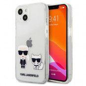 Karl Lagerfeld iPhone 13 Mini Skal Karl & Choupette - Transparent