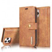 DG.MING Äkta Läder Plånboksfodral iPhone 13 Pro Max - Brun
